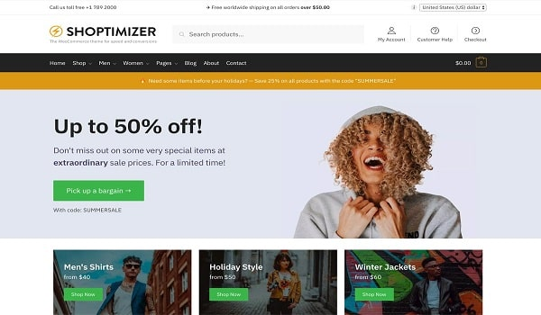 قالب Shoptimizer | قالب شاپتیمایزر سریع ترین پوسته ووکامرس در جهان