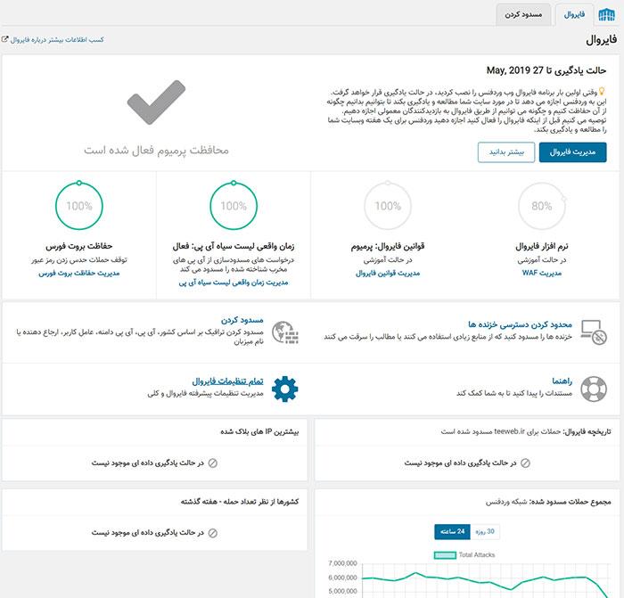 افزونه وردفنس | افزونه امنیتی وردپرس Wordfence Security Pro