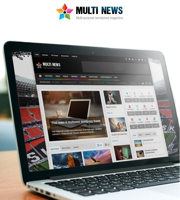 قالب مولتی نیوز   دانلود پوسته خبری و مجله وردپرس Multinews