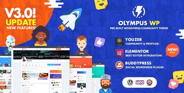 قالب Olympus | دانلود قالب شبکه اجتماعی وردپرس الیمپوس