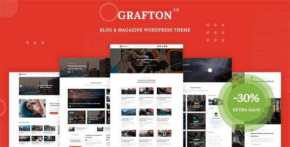 قالب Grafton   دانلود قالب وردپرس مجله ای و وبلاگ گرافتون