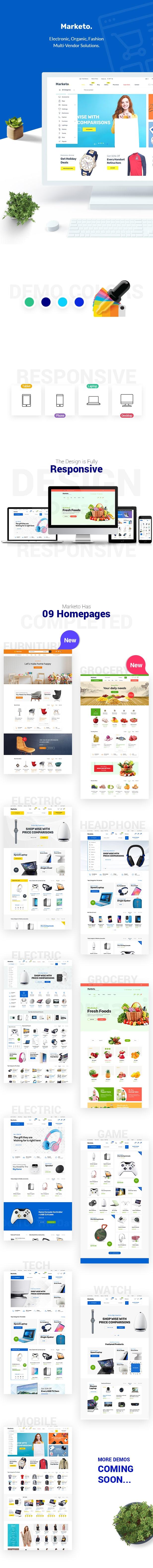قالب Marketo | پوسته وردپرس فروشگاهی و چندفروشندگی مارکتو