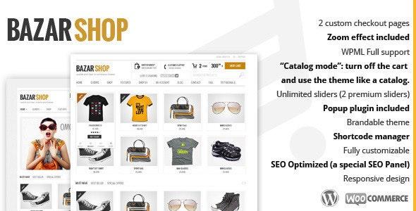 قالب بازار شاپ | دانلود قالب وردپرس فروشگاهی Bazar Shop