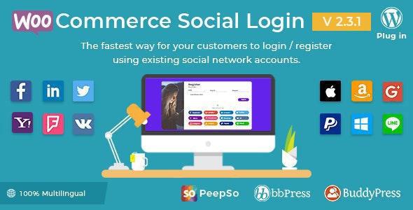 افزونه عضویت و ورود با شبکههای اجتماعی | WooCommerce Social Login