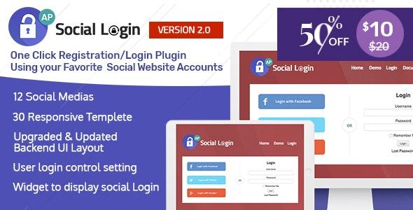 افزونه ورود و عضویت با شبکههای اجتماعی   AccessPress Social Login