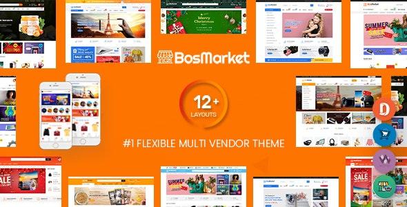 قالب BosMarket | دانلود قالب وردپرس چند فروشندگی باس مارکت