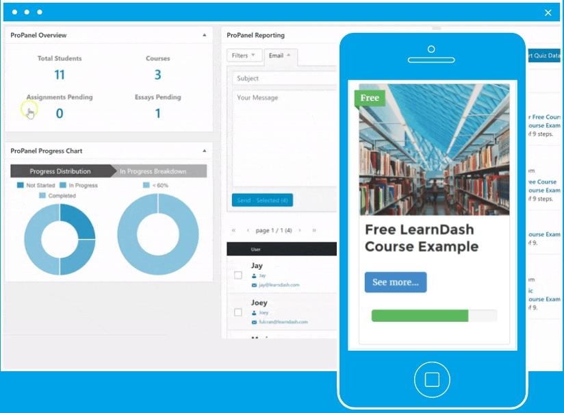 افزونه LearnDash | دانلود افزونه دوره و آزمون ساز لرن دش