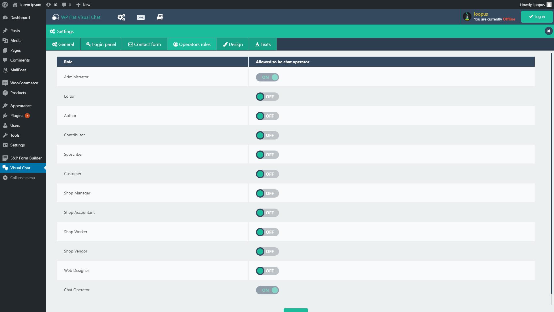 افزونه WP Flat Visual Chat | دانلود افزونه چت آنلاین وردپرس