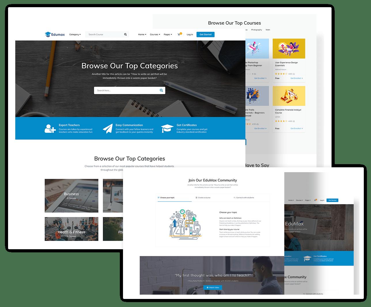 قالب Edumax | دانلود قالب سایت های آموزشی وردپرس