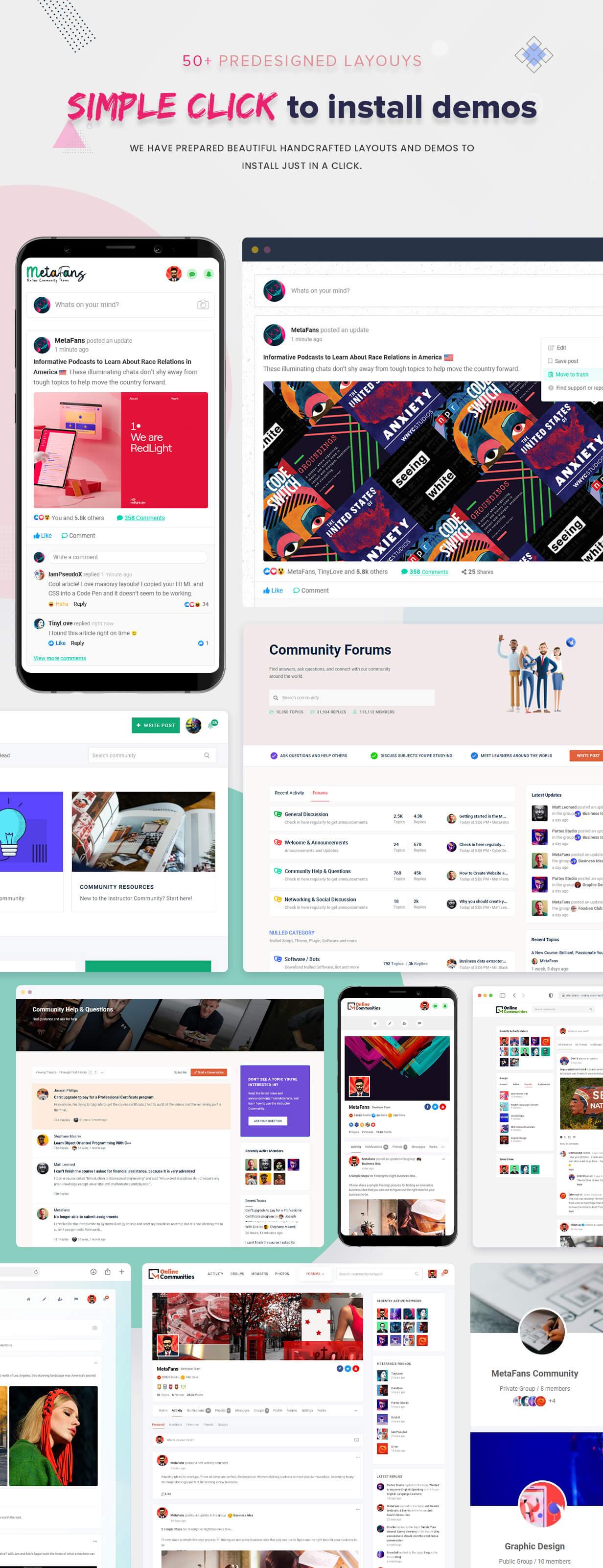 دانلود قالب وردپرس MetaFans ساخت شبکه های اجتماعی